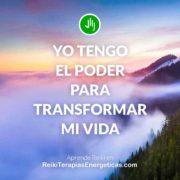 Frase Reiki - Yo tengo el poder
