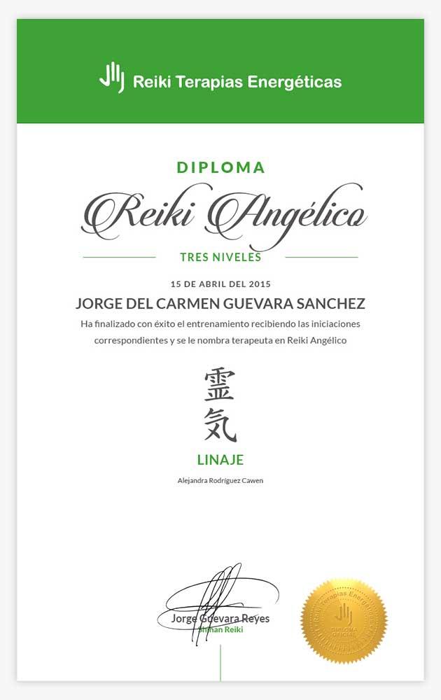 Diploma Reiki Angélico